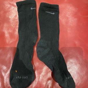 Black and grey nike crew socks